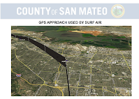 Old Approach for Surf Air (San Carlos Airport)