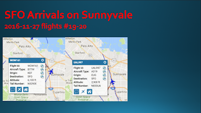 SFO Flying at 2900ft over Sunnyvale