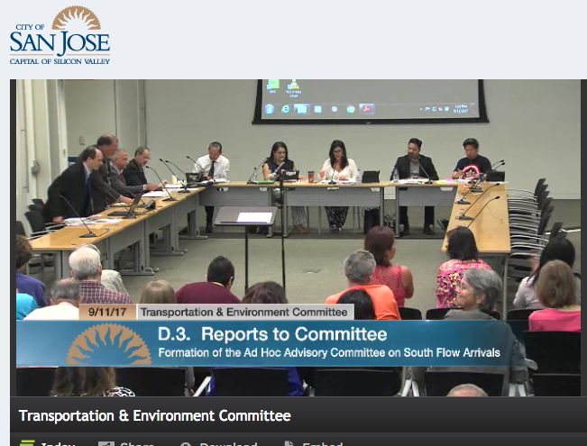 SJC South Flow Ad Hoc Committee Approved Unanimously!